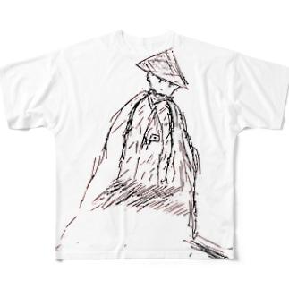 ツワブキ童子 Full graphic T-shirts