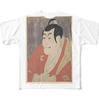 東洲斎写楽画 「市川鰕蔵」 Full graphic T-shirts
