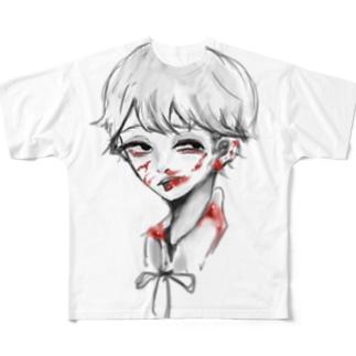 血 Full graphic T-shirts
