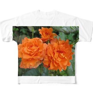 ローズNo.5 Full graphic T-shirts