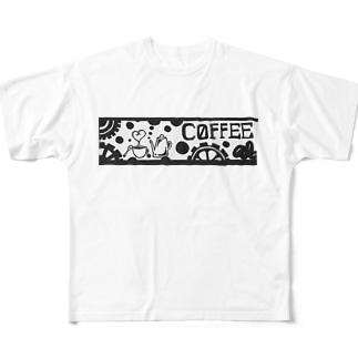 喫茶Coffeeシリーズ Full graphic T-shirts
