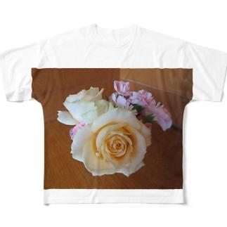 フラワーアレンジメントNo.2 Full graphic T-shirts