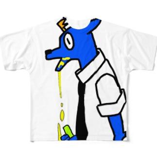 マーライオン会社員 Full graphic T-shirts