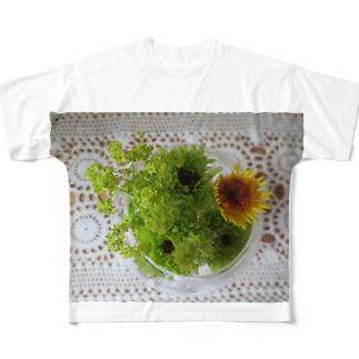 若葉色 Full graphic T-shirts