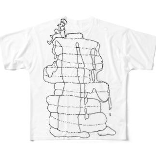 パンケーキと男の子 Full graphic T-shirts