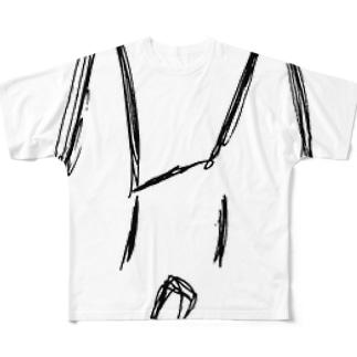 ぶれる猫 Full graphic T-shirts