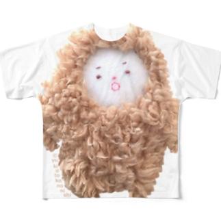 ゆきおとこのにしくん【ほよよ口】 Full graphic T-shirts