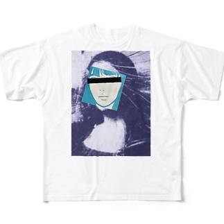 モナリザの素顔 Full graphic T-shirts