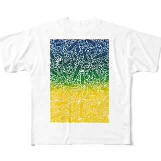 SILKコラージュ Full graphic T-shirts