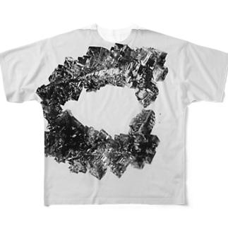 ビスマスシンメトリー Full graphic T-shirts