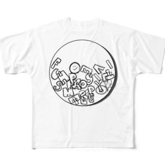 重ねる Full graphic T-shirts