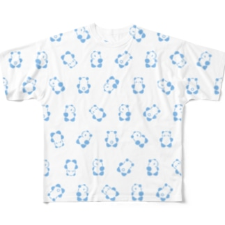 SIROPANDA∞(Blue) Full graphic T-shirts