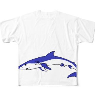 ヨシキリザメ Full graphic T-shirts