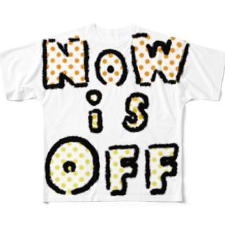 NOWisOFF フルグラフィックTシャツ