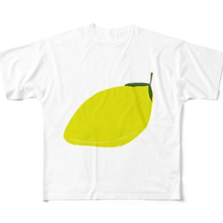 シンプルレモン Full graphic T-shirts