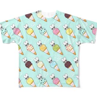 ice-mint フルグラフィックTシャツ