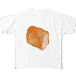 食パンロゴマーク Full graphic T-shirts