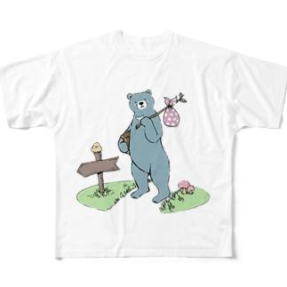 お引越しつっきー Full graphic T-shirts