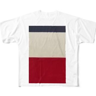 鉄道 グッズ コントラスト 京急 Full graphic T-shirts