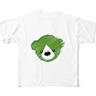 くまさんロゴマーク Full graphic T-shirts