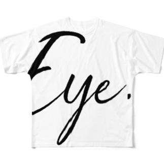 Eye.suzuri Black Full graphic T-shirts