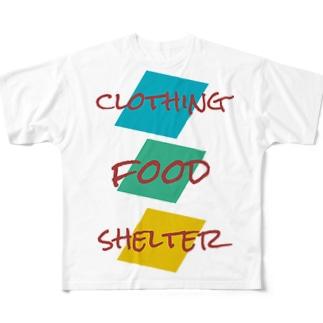 衣食住Tシャツ Full graphic T-shirts