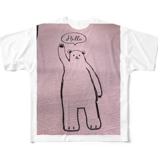 ハローベア フルグラフィックTシャツ