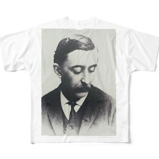 ラフカディオ・ハーン(小泉八雲) Full graphic T-shirts