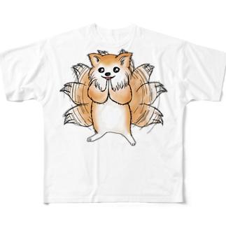 (。-人-。) フルグラフィックTシャツ