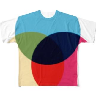 なんちゃって三原色(色材) Full graphic T-shirts