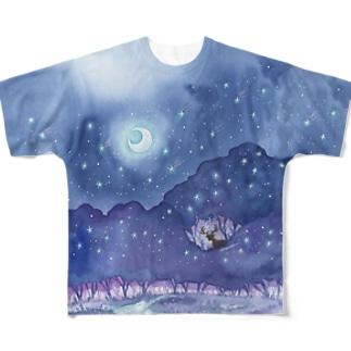 星降る森 フルグラフィックTシャツ