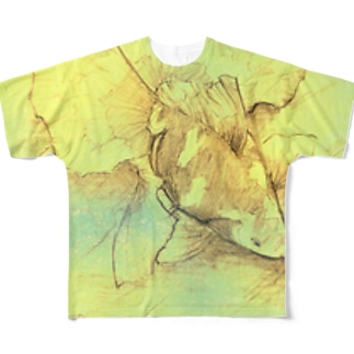 【金魚】土佐錦魚~今日ははるか未来から見たあの日~ フルグラフィックTシャツ