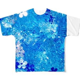泡華   竜胆 Full graphic T-shirts