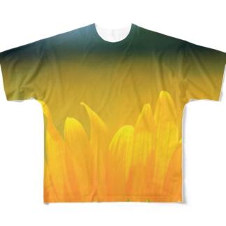 ひまわり(花びら) Full graphic T-shirts