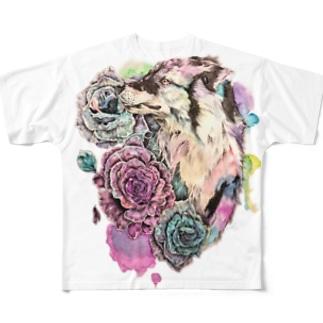 水吠 フルグラフィックTシャツ