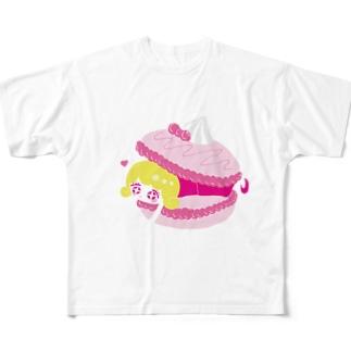 マカロンに挟まりたい女 Full graphic T-shirts