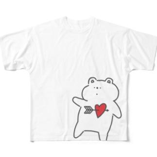 ずっきゅんくまさん フルグラフィックTシャツ