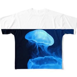 くらげ Full graphic T-shirts