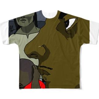 ghetto フルグラフィックTシャツ