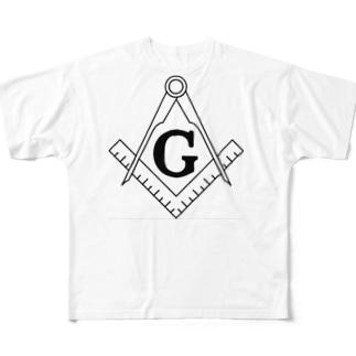 フリーメイソン Full graphic T-shirts