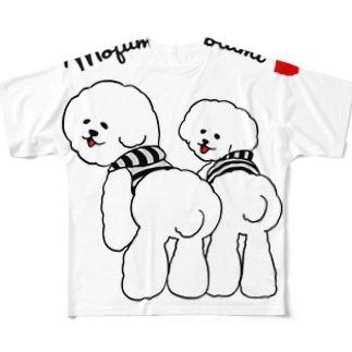 モフモフの民 コットン&ボンボン フルグラフィックTシャツ