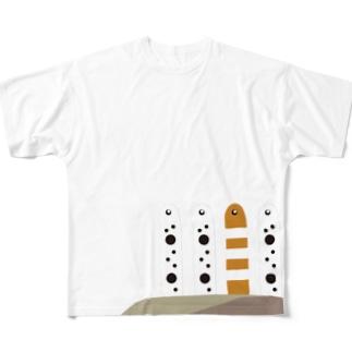 CHIN-ANAGO フルグラフィックTシャツ