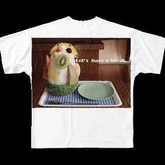 高田万十のLet's have a break. フルグラフィックTシャツ