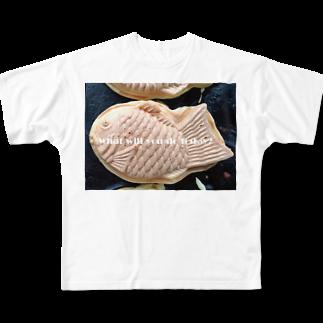 高田万十のWhat will you do today? Full graphic T-shirts