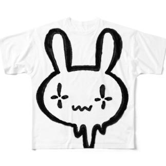 シンダウサギ フルグラフィックTシャツ