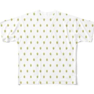 レモンを被った鳥(神妙な表情) Full graphic T-shirts