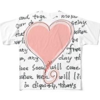 feel-free-Heart Full graphic T-shirts