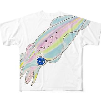 虹イカ Full graphic T-shirts