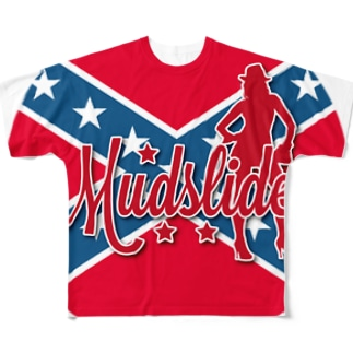 MUDSLIDE dixie flag Full graphic T-shirts