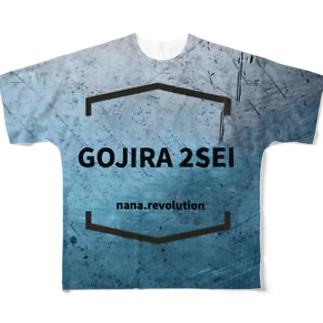 ゴジラデカTシャツ Full graphic T-shirts